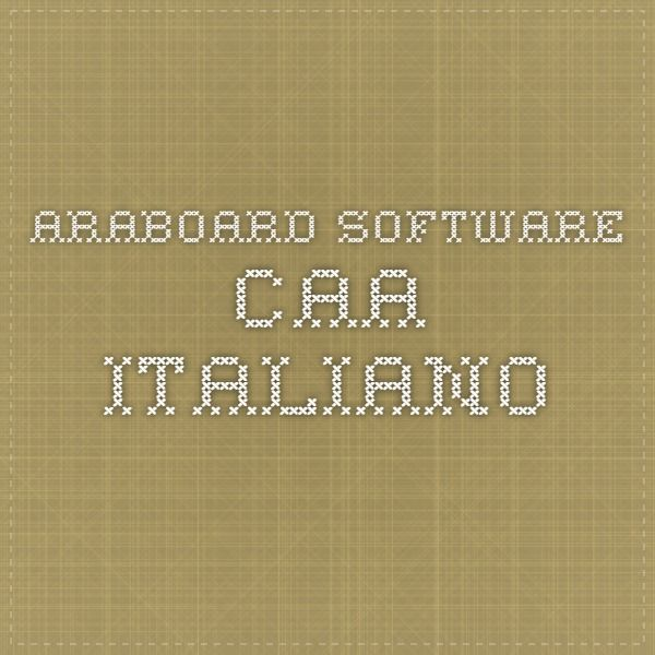ARABOARD SOFTWARE CAA ITALIANO