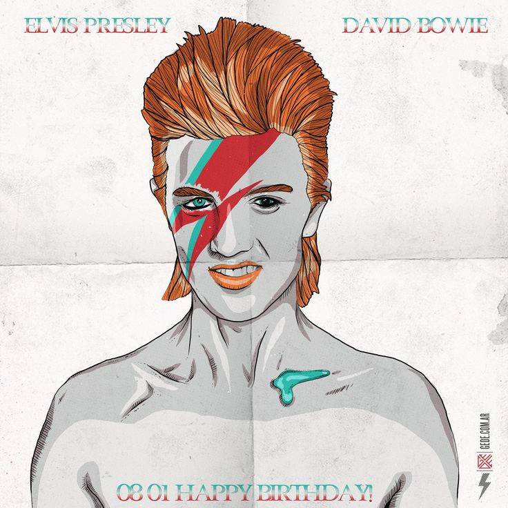 DAVOD BOWIE AND ELVIS PRESLEY BIRTHDAY
