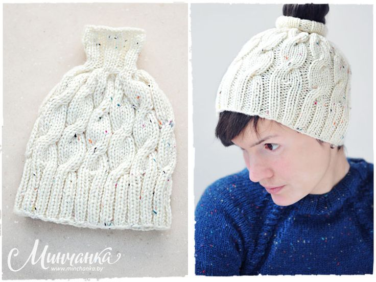 Cap with a hole on top #knitting #knittedcap #needlework #handmade #fashion #wool