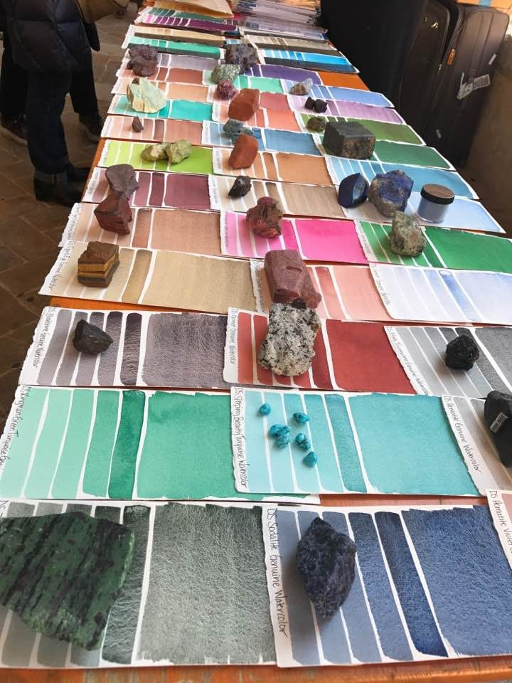 Selection of watercolour paper in Fabriano Italy