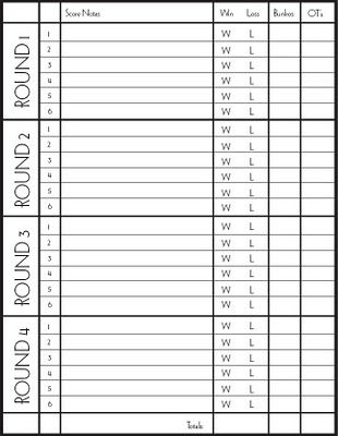 Best Printable Game Score Sheets Images On   Scores