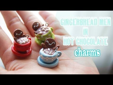 Tutorial: Gingerbread Men in Hot Chocolate charms - YouTube