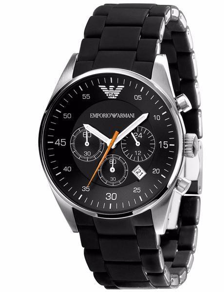 Emporio Armani Sportivo Watch Black Silver Quartz Analog Men s Watch AR5858 59503f5f02