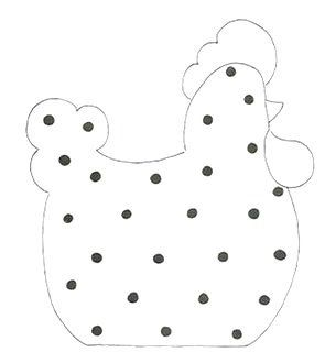 dotted hen.....french knot ready!