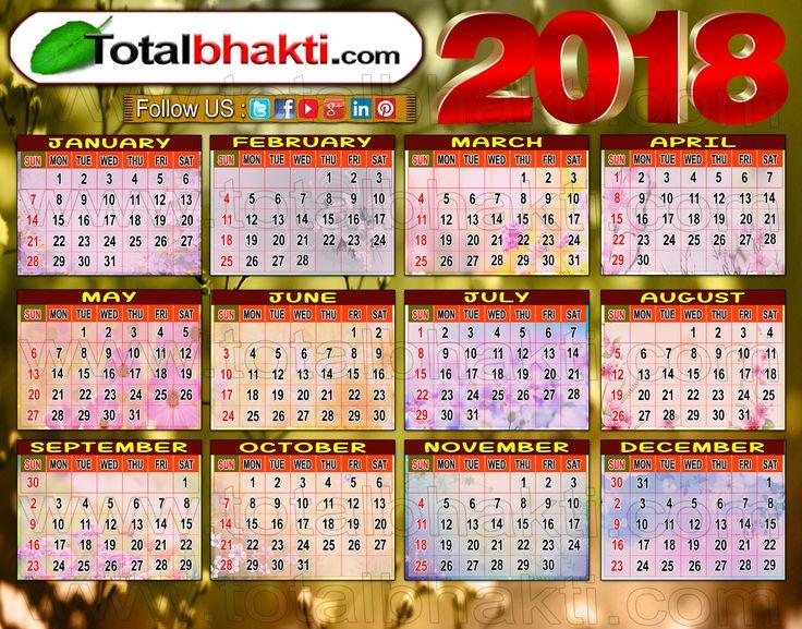 Hindu Calendar 2018 Wallpaper  #hindu #hinduism #calendar #bhakti