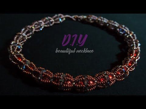 Beaded necklace tutorials. DIY. Мастер Класс / Tutorial: Necklace Master Class! - YouTube