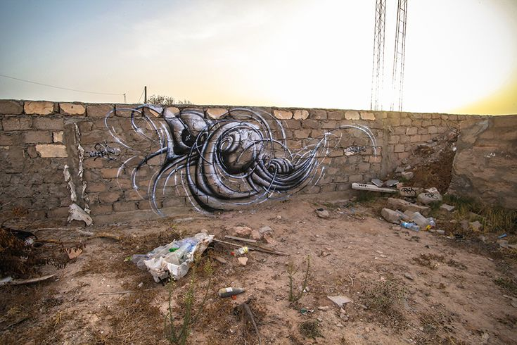 Rea (France) #streetart #erriadh #djerba #tunisia #spray