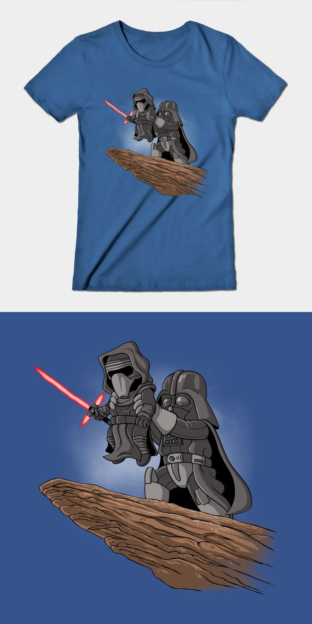 Star Wars Lion King T Shirt | The Dark Side's version of 'Simba's Presentation'. In this iconic moment, Darth Vader holds Kylo Ren aloft during the anointing ceremony. | Visit http://shirtminion.com/2016/01/star-wars-lion-king-t-shirt/