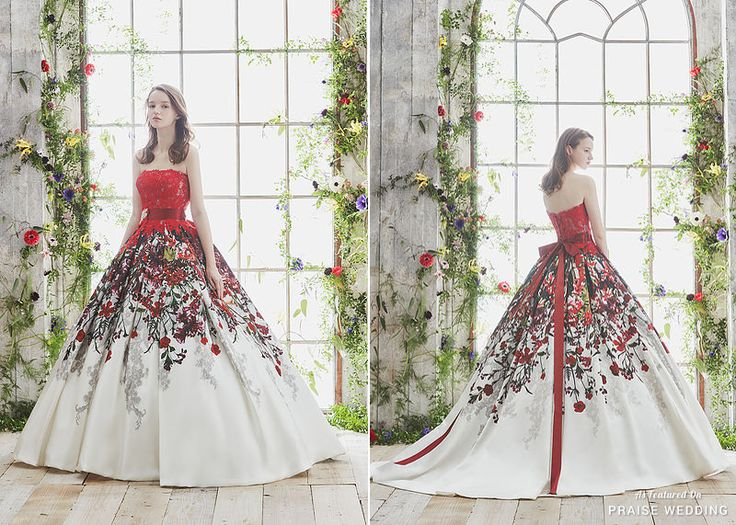 Utterly blown away by this rose garden-inspired gown from Hardy Amies featuring artistic details and embroideries! » Praise Wedding Community