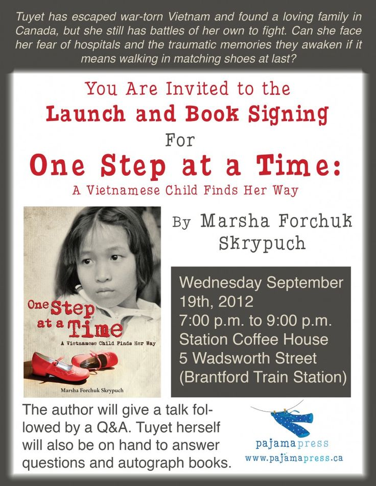 Book Launch for One Step at a Time: A Vietnamese Child Finds Her Way, sequel to Last Airlift: A Vietnamese Orphan's Rescue from War