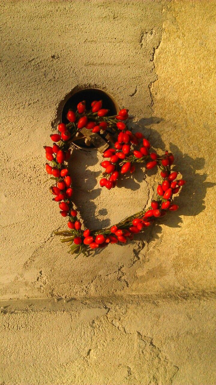 Srdce z šípků, podzim, šípky