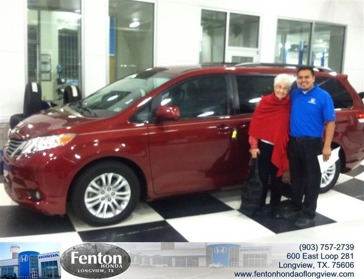 Congratulations to Barbara McClellan on your #Toyota #Sienna purchase from Raul Hernandez at Fenton Honda of Longview! #NewCar