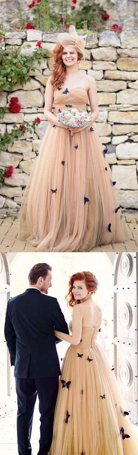 Champagne Wedding Dresses, Butterfly Wedding dresses, Sweetheart Wedding Dresses, Long Wedding Dresses, Bridal Wedding Dresses, Beautiful Wedding Dresses, Champagne Long dresses, Long Champagne dresses, Champagne Sweetheart Wedding Dresses, Beautiful Butterfly Wedding Dresses Sweetheart Ruffles Bridal Gown