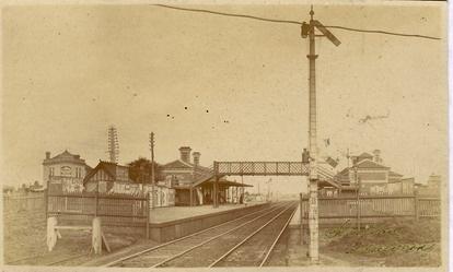Malvern Railway Station, ca. 1900.