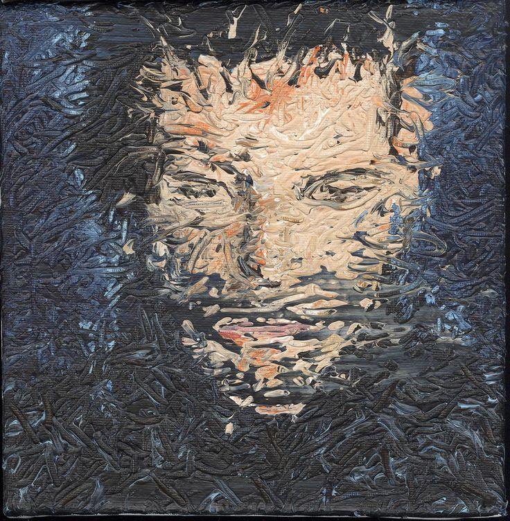 Mann, Acryl auf Leinwand, 20 x 20cm, 2017