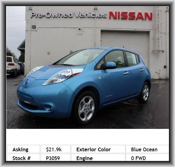 Nice Nissan 2017: 2012 Nissan LEAF SL Hatchback  Climate Control, Tires - Rear Performance, Keyles... Usedcarssaleseattle Check more at http://carboard.pro/Cars-Gallery/2017/nissan-2017-2012-nissan-leaf-sl-hatchback-climate-control-tires-rear-performance-keyles-usedcarssaleseattle/