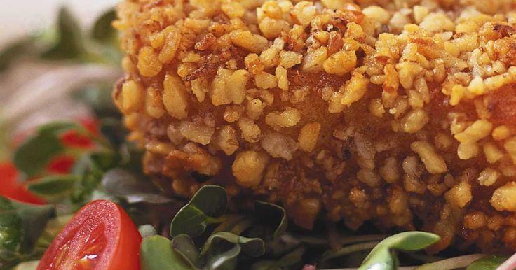 Fondue parmesan en croûte de noix