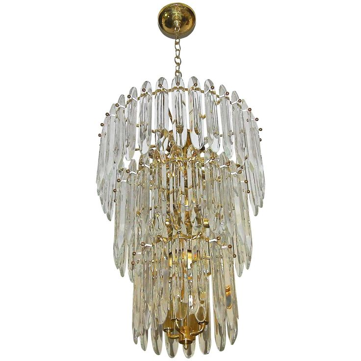 Large three tier gaetano sciolari italian crystal chandelier