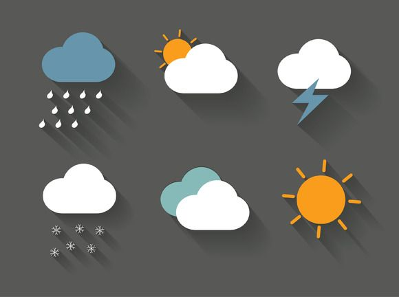 weather icons vector by lyeyee on Creative Market