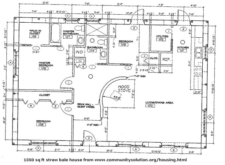 Straw bale house plan for Straw bale home plans