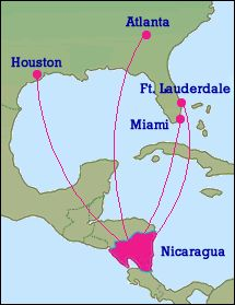 Direct Flight Options To Nicaragua From The Us La Houston Etc