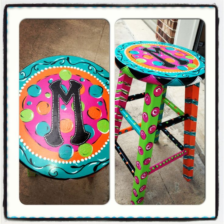 Custom painted stools and more A Mays Me