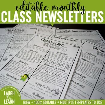 Classroom newsletter are essential to building that home to school connection. Parents want to know what is going on within the classroom; especially if you can include everything thats going on for that week or month at a quick glance on a simple newsletter format.