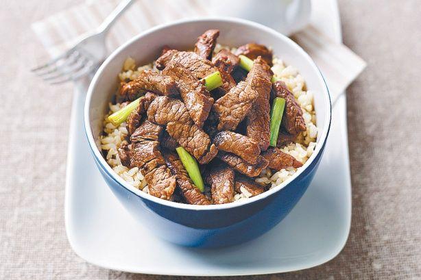 Teriyaki beef w/brown rice