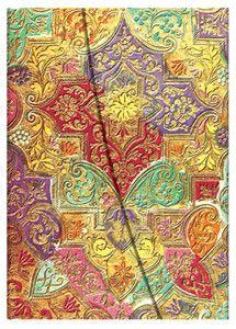 Notatnik Paperblanks Midi Brocaded Paper Bavarian Wild Flower linie