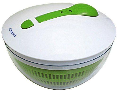 Ozeri Swiss Designed FRESHSPIN Salad Spinner and Serving Bowl, BPA-Free - http://mygourmetgifts.com/ozeri-swiss-designed-freshspin-salad-spinner-and-serving-bowl-bpa-free/