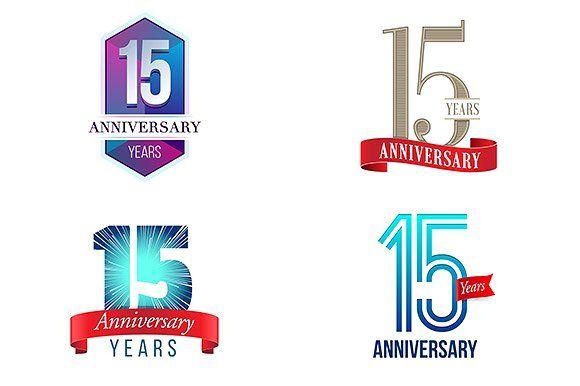 15th Anniversary Symbol 15th Anniversary Anniversary Logo 15 Year Anniversary