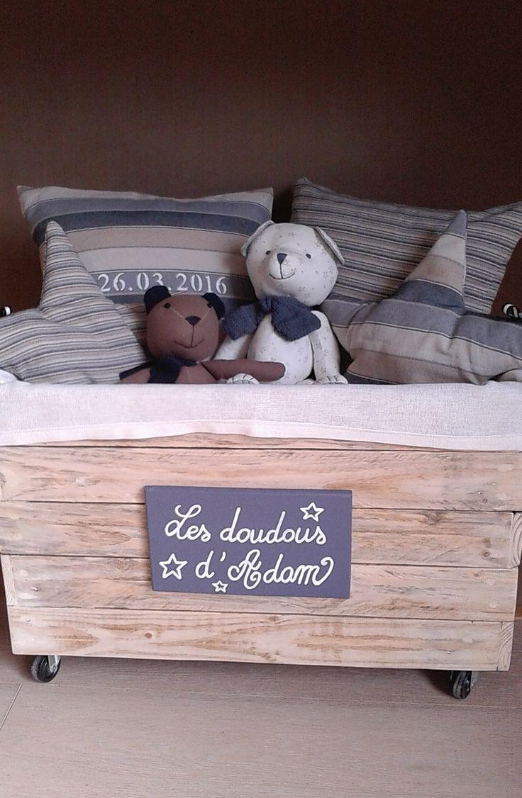 Accessoire pour chambre d 39 enfant coffre doudous r alis for Accessoire pour chambre