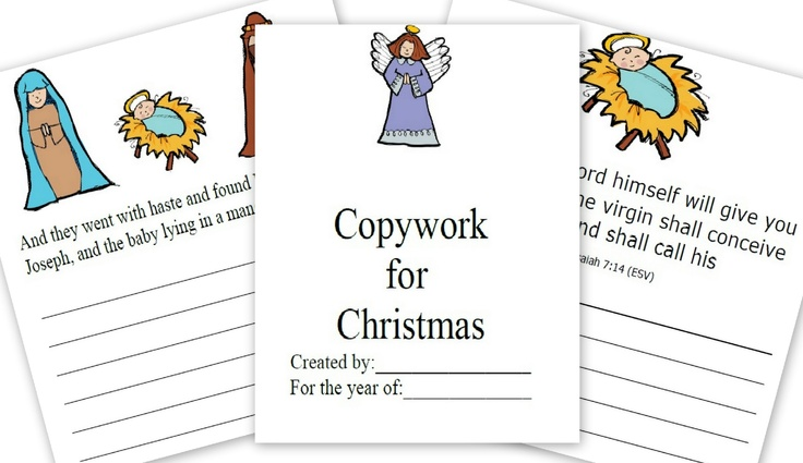The Christmas Story FREE Printable For Copywork from Mom's Mustard Seeds