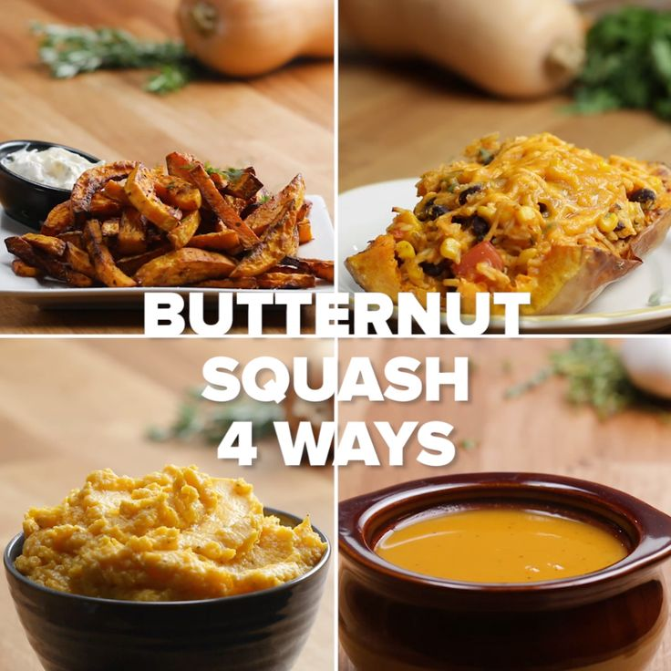 Butternut Squash 4 Ways // #squash #butternutsquash #soup #fall #Tasty