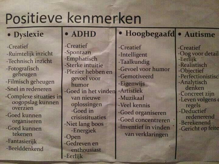 De POSITIEVE kenmerken van Autisme! :-)