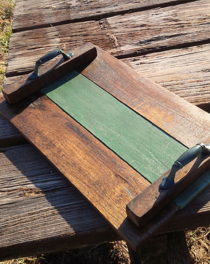 Pallet Wood Serving Tray Wooden Breakfast Tray Recycled Pallet Wood Display Tray Rustic Decor Centerpiece Coffee Table Tray by WoofpackDesignz on Etsy https://www.etsy.com/listing/271679014/pallet-wood-serving-tray-wooden