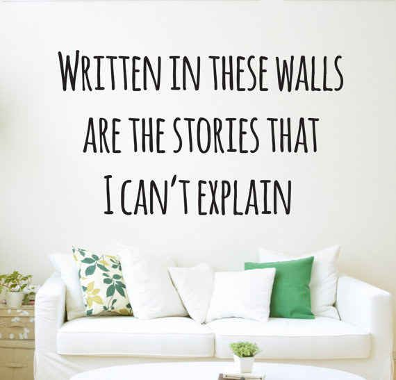 """A """"Story of My Life"""" wall decal. NEED FOR MY ROOM"""