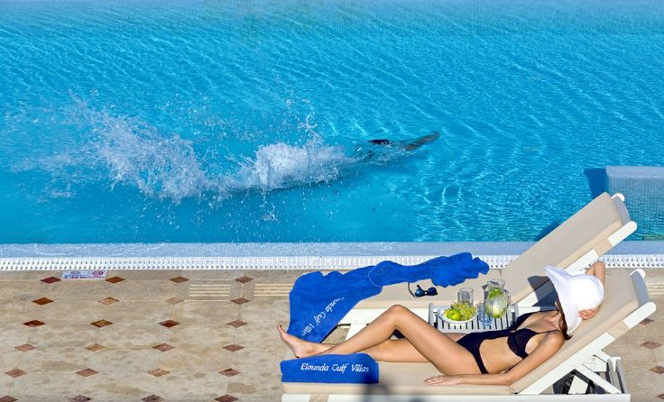 Soak up the sun at Elounda Gulf Villas and Suites #luxuryholidays #pool #Crete