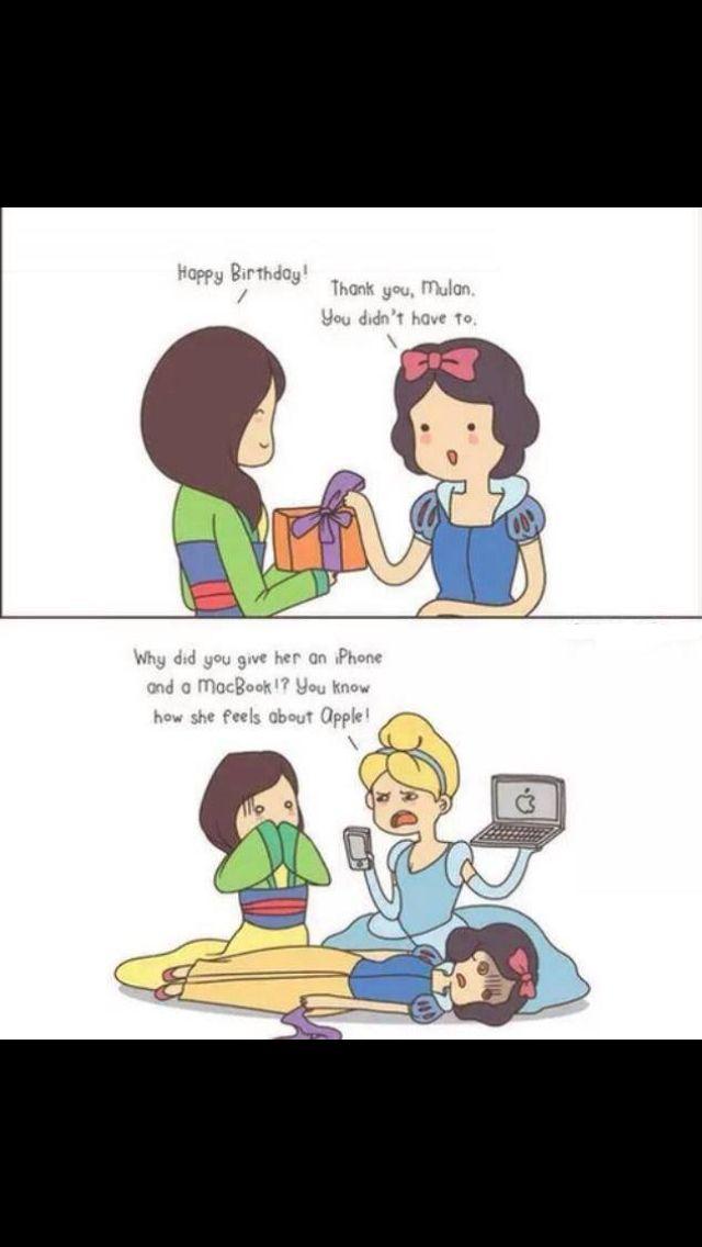 Haha! Disney Princess humor!