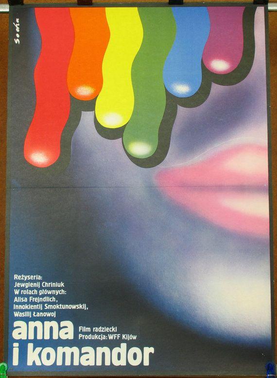 Poster. Russian  Soviet Union Ukraine 1975 film  by artwardrobe