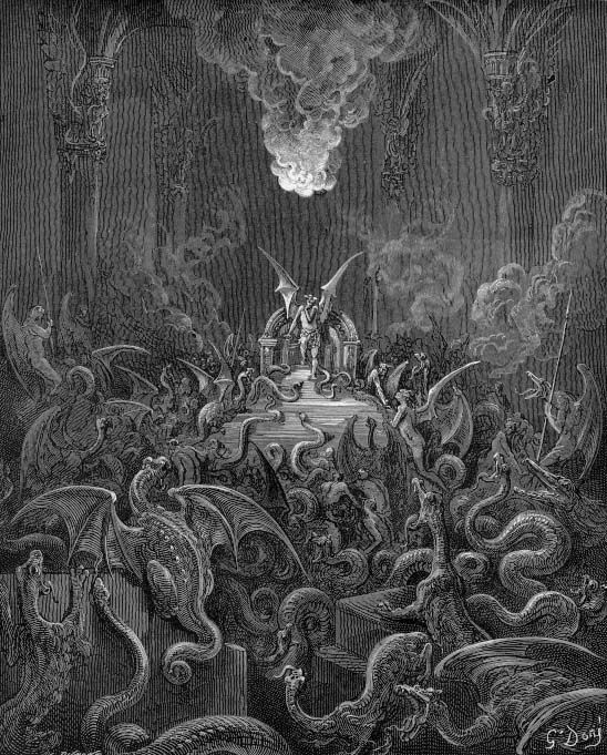 revolt of satan in paradise lost Paradise lost is about the fall of humanity and the rebellion of satan and his  angels, so the plot and conflict almost entirely come from acts of revolt against the .