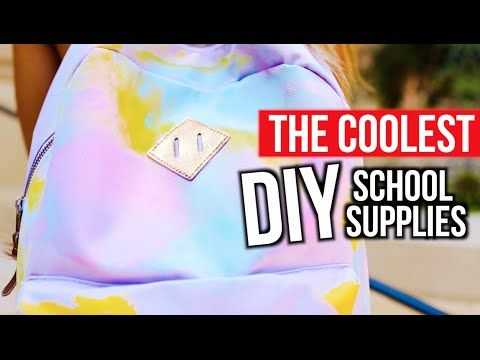 THE COOLEST DIY SCHOOL SUPPLIES | Mylifeaseva - YouTube