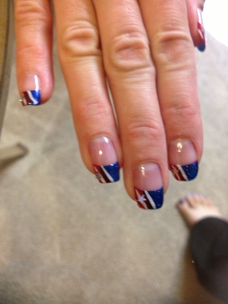 Military Homecoming Nail Art. My husband loved my nails and all the women at nail place came to look at them even the workers. Got a lot of great compliments at his homecoming! Leslie