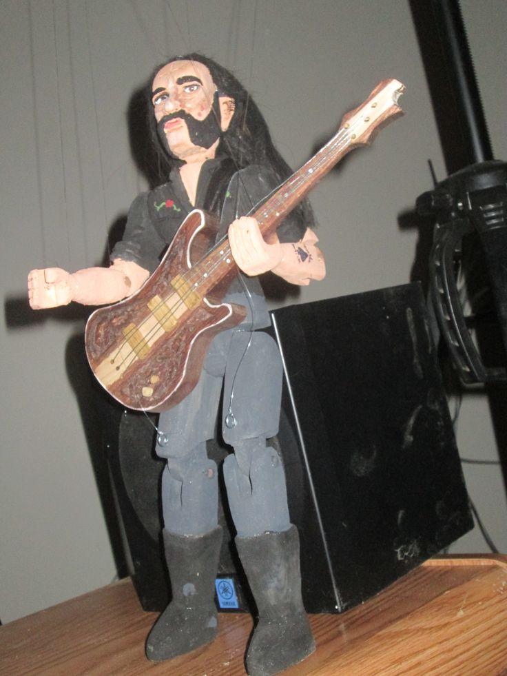 Lemmy of Motorhead wooden marionette
