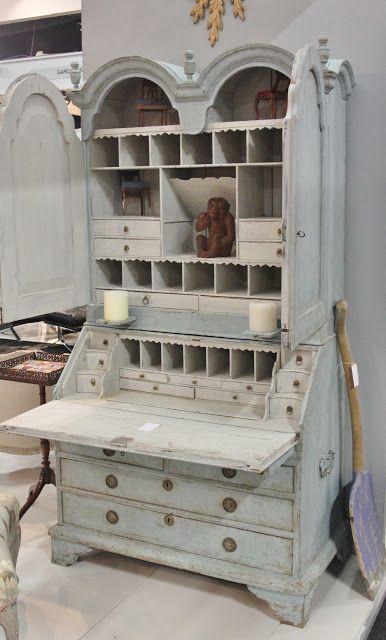 Swedish Bureau Bookcase, circa 1770.