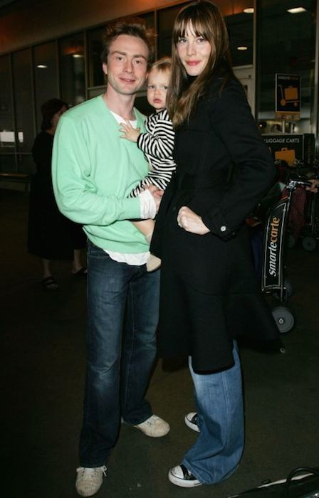 Liv Tyler and her ex-husband Royston Langdon....