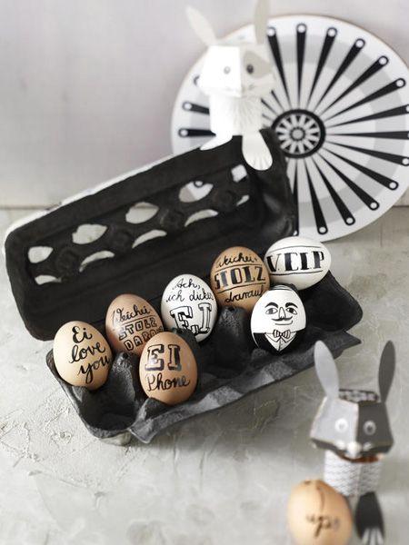 Ostereier mit Sprüchen - So einfach geht's ...