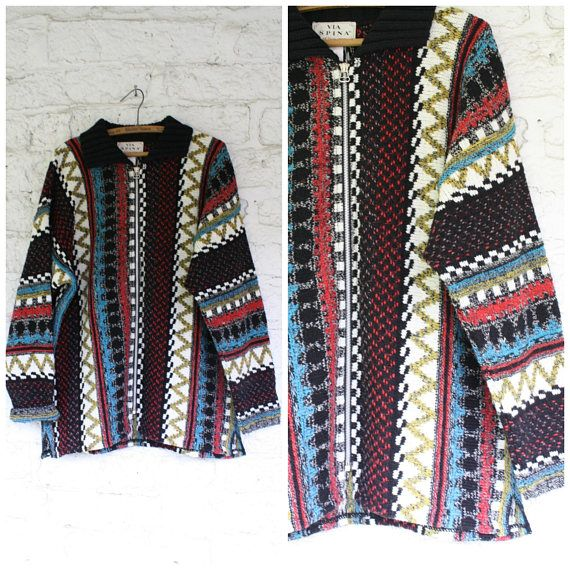 1980s Cosby Cardigan / Mens Wool Sweater / Vintage Cardigan