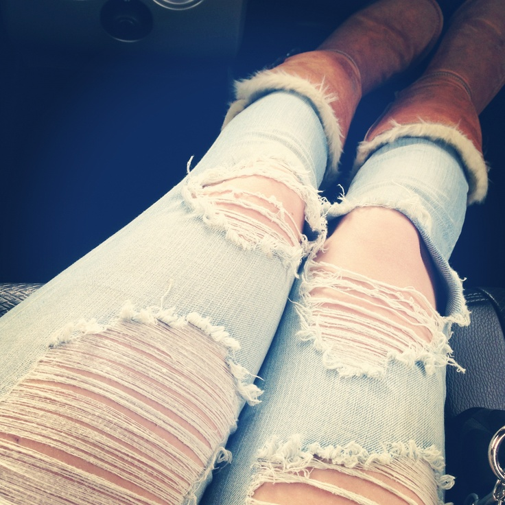 Perfectly riped jeans <3