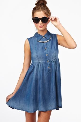lindo vestido en jean
